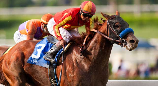 Coil with Martin Garcia aboard wins the Santa Anita Sprint Championship Stakes at Santa Anita Park, Arcadia California on October 6, 2012.