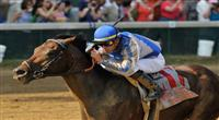 June 12, 2010: Blame and Garrett Gomez take the 29th running of the G1 Stephen Foster Stakes at Churchill Downs in Louisville, Kentucky.