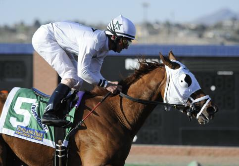 10 March 28: Endorsement (no. 5), ridden by Robby Albarado and trained by Shannon Ritter, wins the 8th running of the grade 3 Sunland Derby for three year olds at Sunland Park Racetrack in Sunland Park, New Mexico.