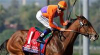 Nov. 02, 2012 - Arcadia, California, U.S - Beholder (KY) ridden by Garrett Gomez and trained by Richard Mandella, wins the Grey Goose Breeders' Cup Juvenile Fillies (Grade I) at Santa Anita Park in Arcadia, CA.