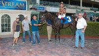 Little Michelle in the Winners Circle after a Maiden Special Weight race at Gulfstream Park.