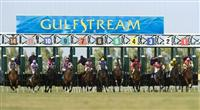 10 January 2010: Horses out of the gate during the Dania Beach Stakes at Gulfstream Park in Hallandale Beach, FL.