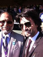 Saeed Naser Al Romaithi and his son Nasser at the Breeders Cup 2011.