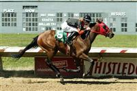 Motega winning the Miss Ohio Stakes by 8 1/2 lenghts
