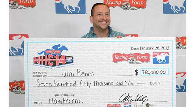 Jim Benes Captures $750,000 Grand Prize in 2013 DRF/NTRA National Handicapping Championship