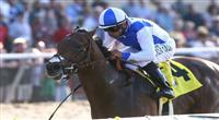 September 08 2010. J P's Gusto and Patrick Valenzuela win the Del Mar Futurity at Del Mar Race Track in Del Mar CA. (Charles Pravata / Eclipse Sportswire)