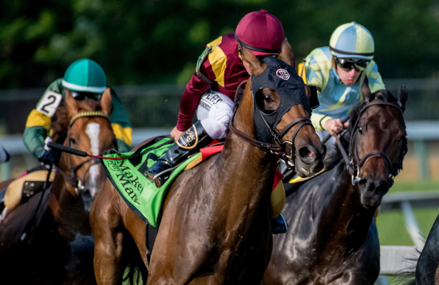 Catholic Boy has enough to win the Dixie Stakes in season debut