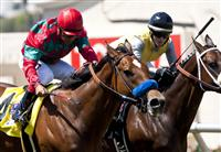 Celtic New Year with Victor Espinoza win the Grade 2 Del Mar Handicap on August 28, 2011.