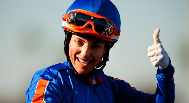Chantal Sutherland after the 2012 Hollywood Gold Cup