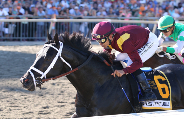 Coal Front survives stretch duel to win the Parx Dirt Mile