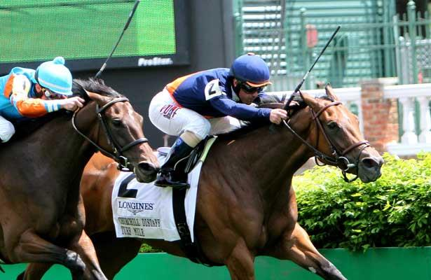 May 3, 2014: Coffee Clique with Javier Castellano wins the Grade 2 Churchill Distaff Turf Mile, for 4-year old fillies & mares, going 1 mile, at Churchill Downs. Trainer: Brian Lynch . Owner: Amerman Racing Stable. Sue Kawczynski/ESW/CSM