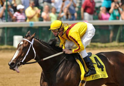 June 12, 2010: Rachel Alexandra and Calvin Borel win the G1 Fleur De Lis at Churchill Downs in Louisville, Kentucky.