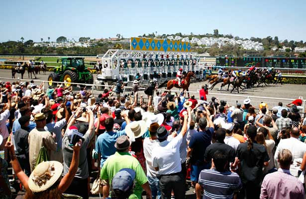 Opening day Del Mar scene at Del Mar Race Course in Del Mar, California on July 17,2013. (Zoe Metz/ Eclipse Sportswire)