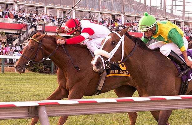 Emotional Kitten edges Summer of Fun in 2013 Hilltop Stakes.