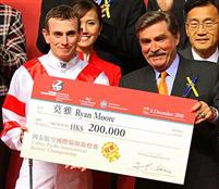 Ryan Moore winning Jockey Challenge at Happy Valley Hong Kong