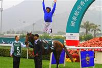 Famous dismount at Cathay Pacific International Turf Championships Hong Kong 2010 aboard Mastery