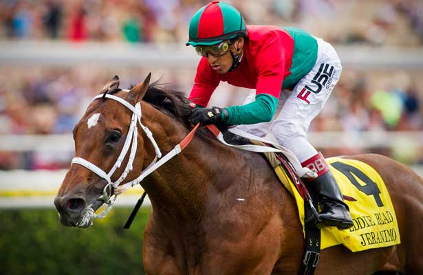 Jeranimo with Rafael Bejarano up wins the GI Eddie Read Stakes at Del Mar Race Course in Del Mar, CA on July 20, 2013. (Alex Evers/ Eclipse Sportswire)
