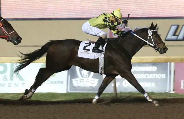 Johnny Whip wins 2015 Silver Goblin Stakes