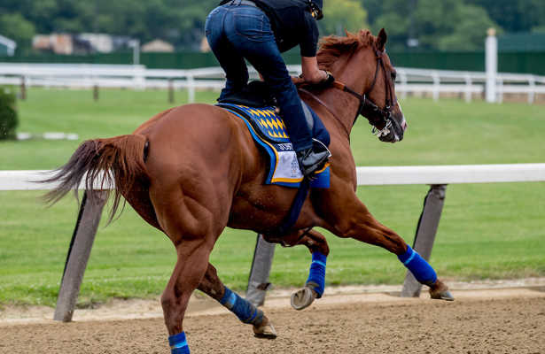 Justify 'floated' in first spin around the Belmont 2018 track
