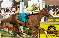 MAY 15, 2015: Keen Pauline, ridden by Javier Castellano, wins the Black-Eyed Susan Stakes at Pimlico Race Course in Baltimore, Maryland. Sue Kawczynski/ESW/Cal Sport Media