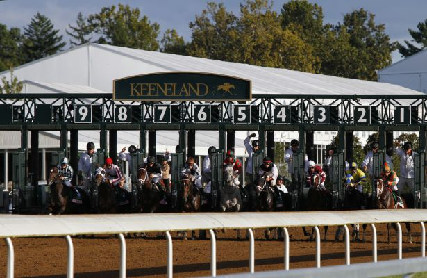 "October 04, 2015: Got Lucky and jockey Irad Ortiz Jr. win the 60th running of the Juddmonte Spinster (Grade 1) ""Win and You're In Distaff Division"" $500,000 at Keeneland for trainer Todd Pletcher and owner Philip Steinberg and Hill 'n' Dale Equine Holdings. Candice Chavez/ESW/CSM"