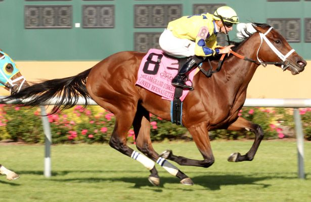 Lovely Bernadette wins 2017 Indiana Grand Stakes
