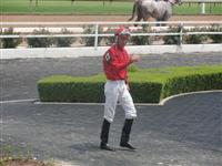 August 15, 2009: Lonnie Meche at Louisiana Downs.