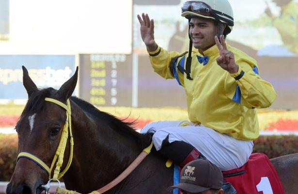 Jockey Saez still 'just working hard' as he hits wins milestone
