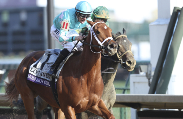 Monomoy Girl defends her turf with Breeders' Cup Distaff win