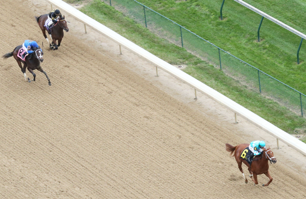 Monomoy Girl takes to dirt in Churchill's Rags to Riches Stakes