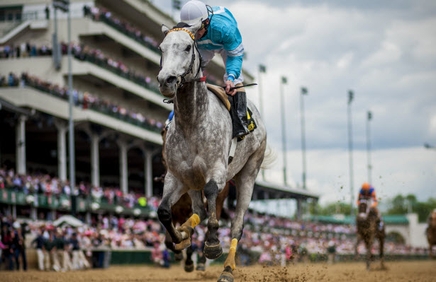 On Fire Baby wins the 2014 La Troienne at Churchill Downs, Jockey Joe. M. Johnson, trainer Gary Hartlage, owner Anita Cauley.