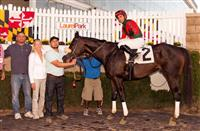 Our Independence wins at LRL (9-29-17).  Mary Eppler Saddles 800th Winner.