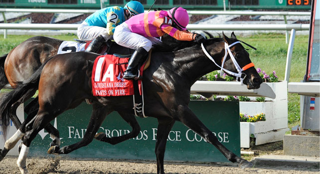 Pants on Fire wins the Louisiana Derby 2011