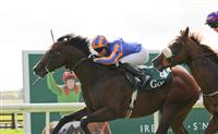 Power wins the Group 1 Goffs National Stakes with jockey Seamie Heffernan at the Curragh Race Course.