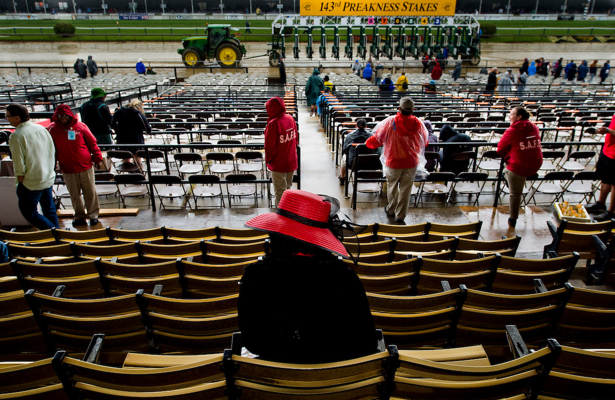 Baffert, Justify Hope To Shine At Wet Preakness