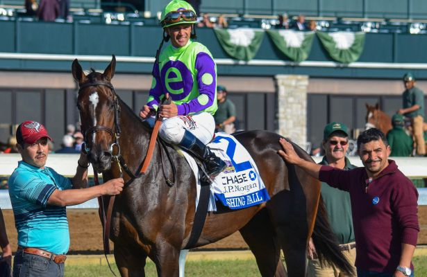 Jessamine Winner Rushing Fall Eyes Breeders Cup Juvenile