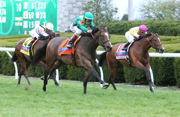 Sistercharlie wins Saratoga's Diana Stakes in a photo finish