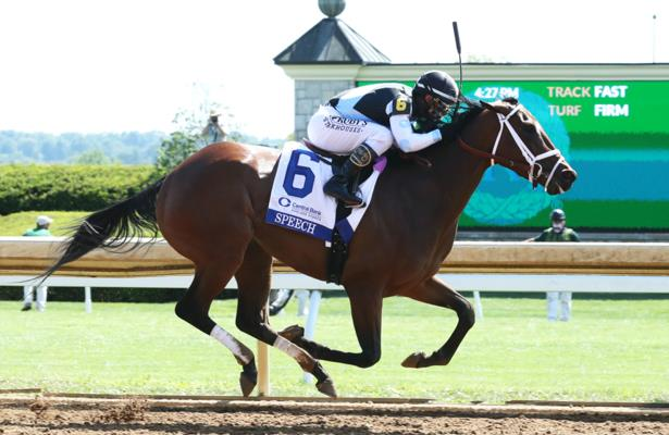 Speech sets track record while collecting first G1 in Ashland