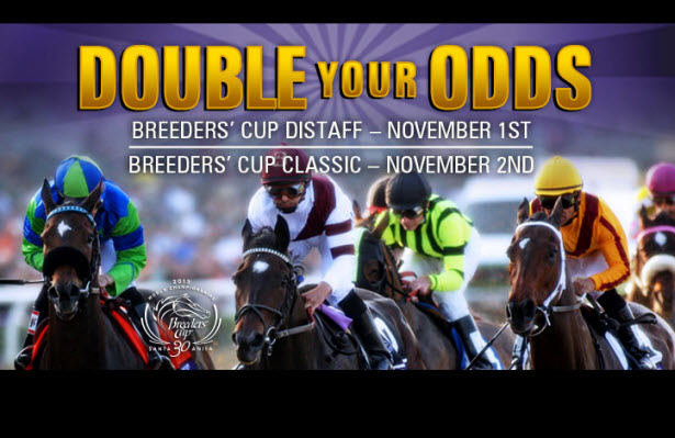 TVG Doubles YOUR ODds for the Breeders' Cup Distaff and Classic!