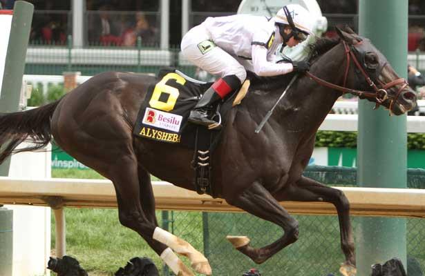 Take Charge Indy with Rosie Napravnick aboard wins the 10th running of the Grade II Alysheba Stakes for 4-year olds and up, going 1 1/16, at Churchill Downs. Trainer Patrick B. Byrne. Owner Winstar Farm and Chuck & Maribeth Sanford, LLC