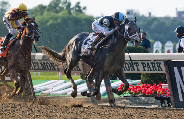 Tapwrit rallies in stretch to win Belmont Stakes