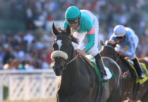 10 October 2009: Zenyatta and Mike Smith win the Lady's Secret Stakes (GI) at Oak Tree at Santa Anita Park