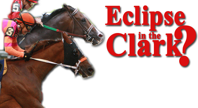 Will a win in the Clark equal an Eclipse award for Flat Out or Ruler On Ice?