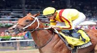8.16.10 Kantharos wins the Grade 2 Saratoga Special with Garret Gomez aboard.